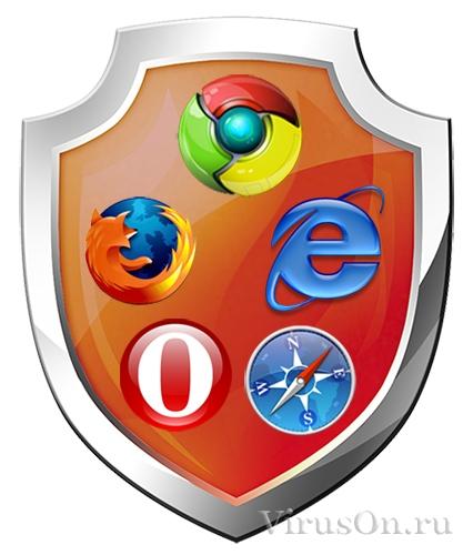 Защищённость браузеров от попадания вирусов