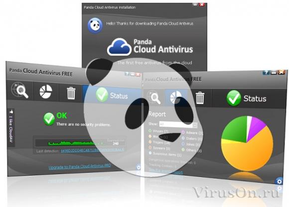 Бесплатная антивирусная программа Panda Cloud Antivirus.